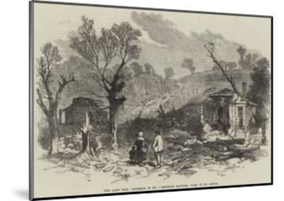 The Late War, Exterior of No 1 Prussian Battery, Park of St Cloud--Mounted Giclee Print