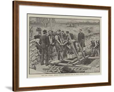 The Coal Strike, Miners Getting Surface Coal in Fields Near Sheffield--Framed Giclee Print