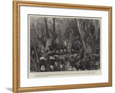 The Vanguard of the Expedition Marching Through the Primaeval Forest--Framed Giclee Print