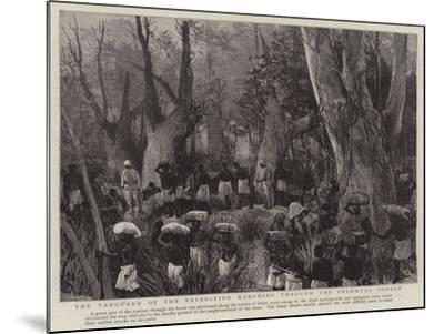The Vanguard of the Expedition Marching Through the Primaeval Forest--Mounted Giclee Print