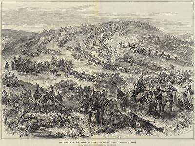 The Zulu War, the March to Ekowe, the Relief Column Crossing a Drift--Framed Giclee Print