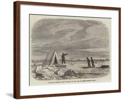 Travelling Party, Tent Pitched for the Day, in Prince Regent's Inlet--Framed Giclee Print