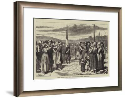 Count Keratry's Breton Army, Recruits Taking Leave of their Friends--Framed Giclee Print