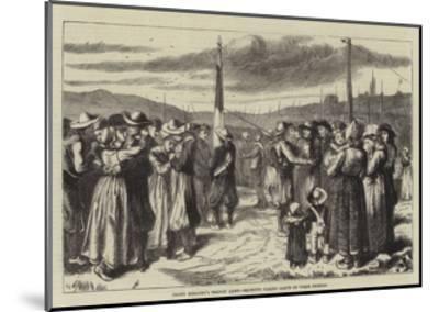Count Keratry's Breton Army, Recruits Taking Leave of their Friends--Mounted Giclee Print