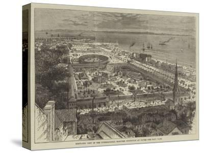 Bird'S-Eye View of the International Maritime Exhibition at Havre--Stretched Canvas Print