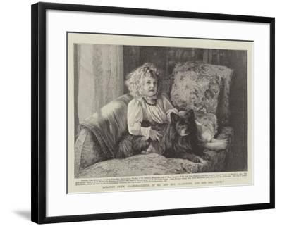 Dorothy Drew, Granddaughter of Mr and Mrs Gladstone, and Her Dog Petz--Framed Giclee Print