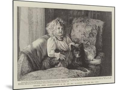 Dorothy Drew, Granddaughter of Mr and Mrs Gladstone, and Her Dog Petz--Mounted Giclee Print