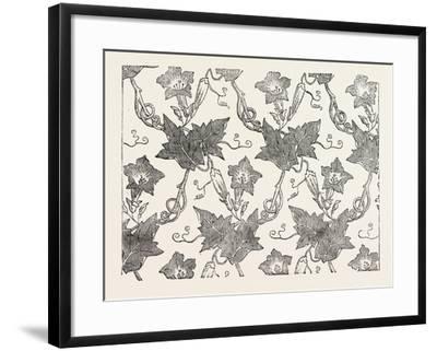 Convolvulus Silk Pattern, James Hill and Co., Spitalfields, London--Framed Giclee Print