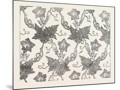 Convolvulus Silk Pattern, James Hill and Co., Spitalfields, London--Mounted Giclee Print