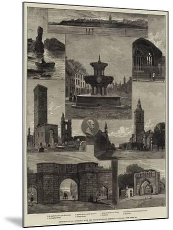 Sketches of St Andrew's, with the Whyte-Melville Memorial Fountain--Mounted Giclee Print