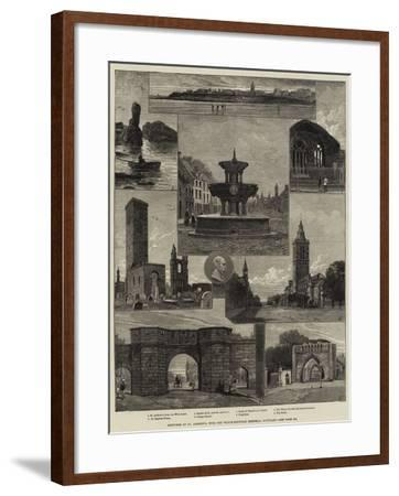 Sketches of St Andrew's, with the Whyte-Melville Memorial Fountain--Framed Giclee Print