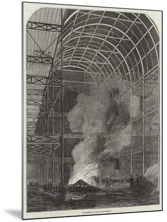 The Great Exhibition Building, the Transept by Night, the Bonfire--Mounted Giclee Print