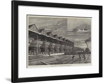Gun-Boats Ready to Be Launched at Haslar, Portsmouth Harbour--Framed Giclee Print