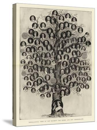 Genealogical Tree of Her Majesty the Queen and Her Descendants--Stretched Canvas Print