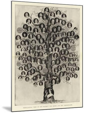 Genealogical Tree of Her Majesty the Queen and Her Descendants--Mounted Giclee Print