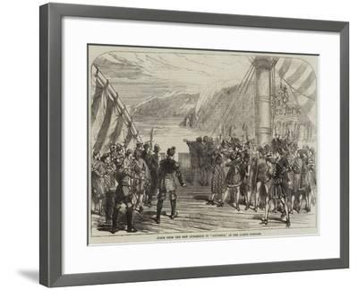 Scene from the New Burlesque of Columbus, at the Gaiety Theatre--Framed Giclee Print