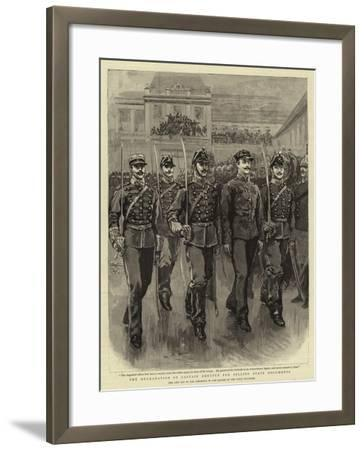 The Degradation of Captain Dreyfus for Selling State Documents--Framed Giclee Print