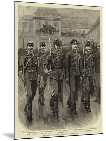 The Degradation of Captain Dreyfus for Selling State Documents--Mounted Giclee Print