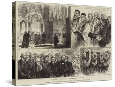 Funeral of the Late Mr W Spottiswoode, in Westminster Abbey--Stretched Canvas Print