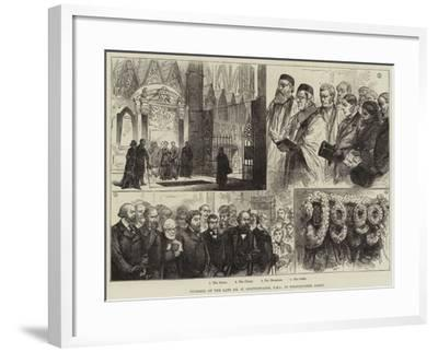 Funeral of the Late Mr W Spottiswoode, in Westminster Abbey--Framed Giclee Print