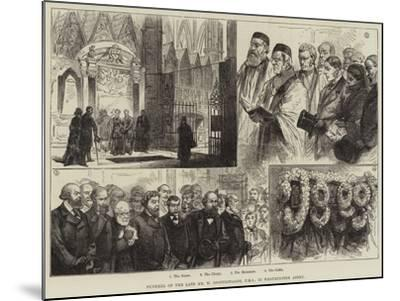 Funeral of the Late Mr W Spottiswoode, in Westminster Abbey--Mounted Giclee Print