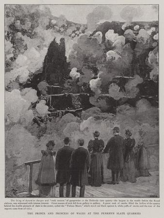 The Prince and Princess of Wales at the Penrhyn Slate Quarries--Framed Giclee Print