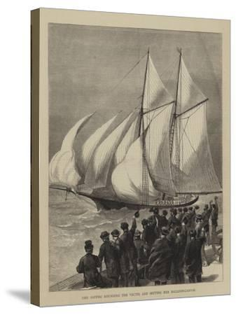 The Sappho Rounding the Vectis, and Setting Her Balloon-Canvas--Stretched Canvas Print