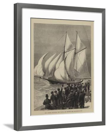 The Sappho Rounding the Vectis, and Setting Her Balloon-Canvas--Framed Giclee Print