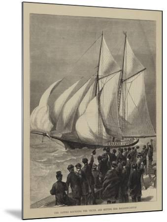 The Sappho Rounding the Vectis, and Setting Her Balloon-Canvas--Mounted Giclee Print