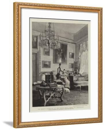 The Recent Gathering of the Danish Royal Family at Copenhagen--Framed Giclee Print