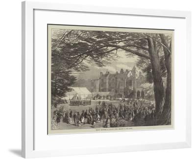 Wedding Festivities at Holland House, Breakfast in the Garden--Framed Giclee Print