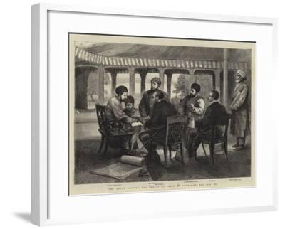 The Ameer Signing the Treaty of Peace at Gandamak, 26 May 1879--Framed Giclee Print
