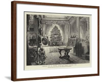 Christmas Eve at Windsor Castle, the Queen's Christmas Tree--Framed Giclee Print
