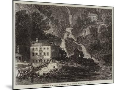 Catastrophe at a Village on the Left Bank of the Lake of Como--Mounted Giclee Print