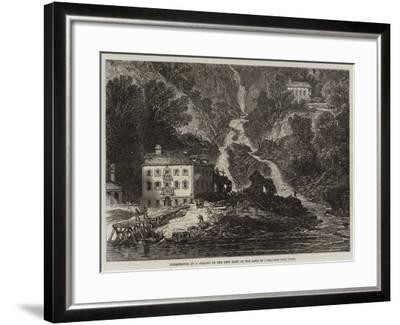 Catastrophe at a Village on the Left Bank of the Lake of Como--Framed Giclee Print
