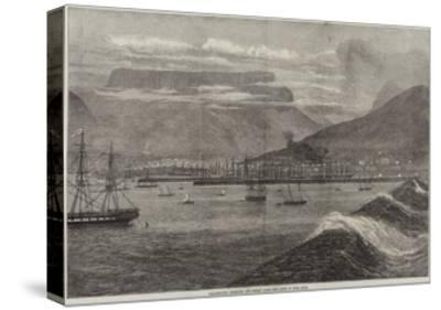 Breakwater, Harbour, and Docks, Table Bay, Cape of Good Hope--Stretched Canvas Print