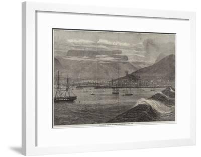 Breakwater, Harbour, and Docks, Table Bay, Cape of Good Hope--Framed Giclee Print