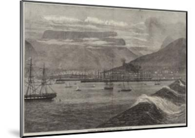 Breakwater, Harbour, and Docks, Table Bay, Cape of Good Hope--Mounted Giclee Print