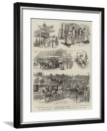 The American Centennial Celebrations, Sketches at Philadelphia--Framed Giclee Print