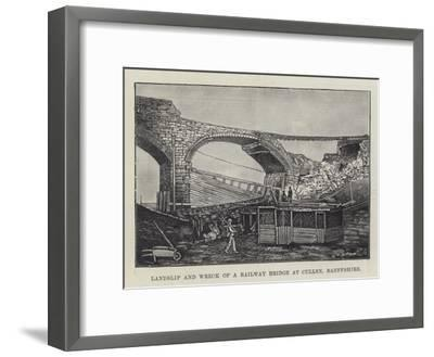 Landslip and Wreck of a Railway Bridge at Cullen, Banffshire--Framed Giclee Print