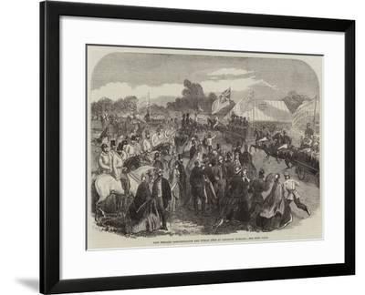 Fire Brigade Demonstration and Public Fete at Leighton Buzzard--Framed Giclee Print