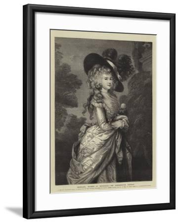 Georgiana, Duchess of Devonshire, the Gainsborough Portrait--Framed Giclee Print