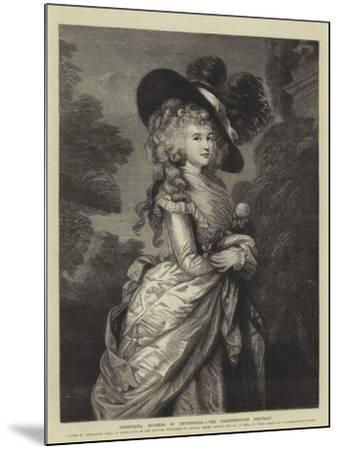 Georgiana, Duchess of Devonshire, the Gainsborough Portrait--Mounted Giclee Print