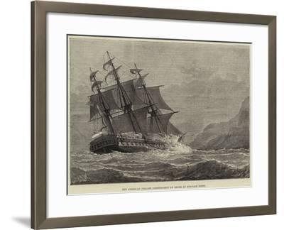 The American Frigate Constitution on Shore at Swanage Point--Framed Giclee Print