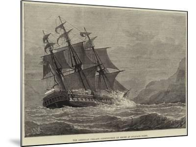 The American Frigate Constitution on Shore at Swanage Point--Mounted Giclee Print