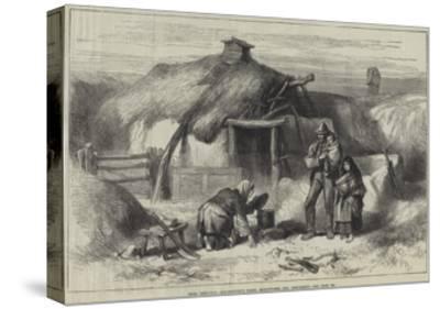 Irish Sketches, Bog-Trotter's Cabin, Ballintober Bog, Roscommon--Stretched Canvas Print