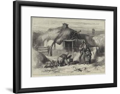Irish Sketches, Bog-Trotter's Cabin, Ballintober Bog, Roscommon--Framed Giclee Print