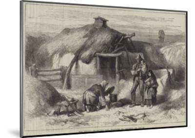 Irish Sketches, Bog-Trotter's Cabin, Ballintober Bog, Roscommon--Mounted Giclee Print