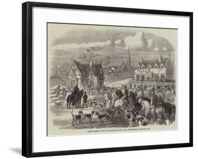 Opening Meet of the Quorn Hounds at Kirby Gate, Leicestershire--Framed Giclee Print