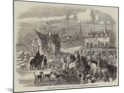 Opening Meet of the Quorn Hounds at Kirby Gate, Leicestershire--Mounted Giclee Print